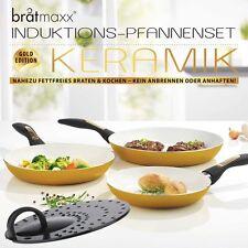 3-tlg. bratmaxx Keramik Pfannenset Induktion Pfanne Bratpfanne TV Werbung