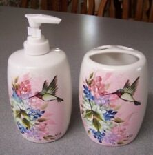 HP Soap Dispenser & Toothbrush Holder- Hummingbird set