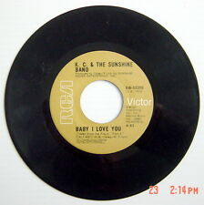 1977'S 45 R.P.M. RECORD, K.C. & THE SUNSHINE BAND, BABY I LOVE YOU, KEEP IT C.L.
