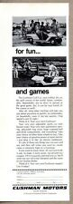 1970 Print Ad Cushman Motors Golf Cars Lincoln,Nebraska