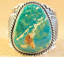 Navajo Sterling Silver Handmade Natural Royston Turquoise Ring By Andy Cadman