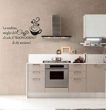 wall stickers adesivo cucina san valentino amore tazza caffè coffee cafè bar