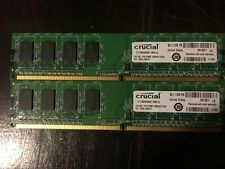 KIT MEMORIE RAM 2 x 1 GB = 2 GB DDR2 CRUCIAL PC5300 667 MHz 240 PIN DESKTOP