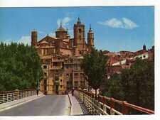 Postal Alcañiz (Teruel) Puente de hierro y entrada a la ciudad.