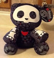 NWT RARE!! SKELANIMALS Dead IN PLAID KIT THE KAT  Plush ! Wow! Look!