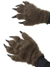 Fancy Dress Werewolf Hands Monster Gloves Brown New Smiffys ref#36670