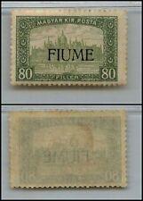 FIUME - 1918/1919 - 80 Filler soprastampato (16) - MH