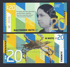USA 2016 Local Currency BALTIMORE NOTE 20 ($20) Lillie May Carroll Jackson UNC