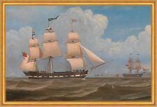 The English Merchant Ship Malabar William Clark Segelschiff Möwen B A2 03489