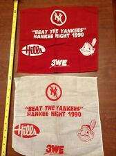 1990 Cleveland Indians Beat the NY Yankees Hankee Night Hills Rally Cloth lot