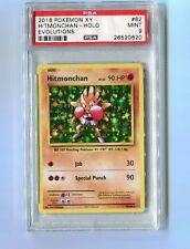 Pokemon PSA 9 Mint HITMONCHAN 62/108 RARE HOLO - XY Evolutions