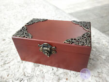 "Play""Once Upon a December"" Wooden Sankyo Vintage Music Box With an Antiqued Lock"