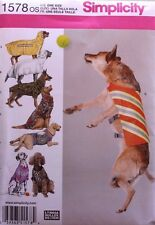 LARGE DOG CLOTHES-COAT Simplicity Pattern 1578 NEW One Size