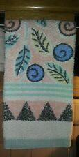 VINTAGE CANNON HAND TOWEL W NATIVE AMERICAN FEEL BEAUTIFUL COLORS  100% COTTON