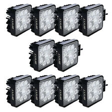 10pcs 27W LED Work Light Bar Flood Square 4WD Offroad ATV Jeep 12V 24V Lamp