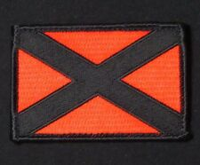 ALABAMA STATE FLAG BLACK OPS RED USA ARMY VELCRO® BRAND FASTENER MORALE PATCH