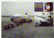 British Caledonian Airway McDonnell Douglas DC-10 Royal Mail Collection Postcard