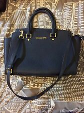 Michael Kors Navy Blue Selma Satchel - Large - Great condition handbag authentic