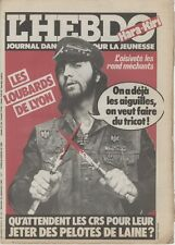 """""""L'HEBDO HARA-KIRI N°10 du 23/9/1981"""" LES LOUBARDS DE LYON"""