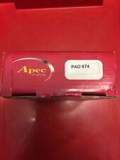 APEC REAR BRAKE PADS TO SUIT HYUNDAI LANTRA 91-01 PAD674 KIA CERATO 04-