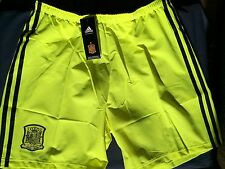 Spain Player Issue 2013-15 Away Goalkeeper Shorts Adidas BNWT Adults Large