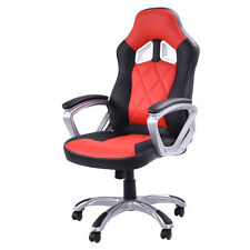 High Back Racing Style Bucket Seat Gaming Chair Swivel Office Desk Task Red New