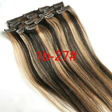 Full Head Clip In/on Hair Extensions 100% Human Hair Remy Hair New Top Sell 15""