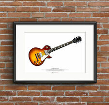 Jimmy Page's 1959 Gibson Les Paul #2 guitar ART POSTER A2 size