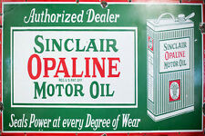 SINCLAIR OPALINE MOTOR OIL WEATHERED BUILDING DIORAMA SIGN DECAL 3X2 DD135