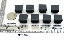 "24 Square Plastic Plugs - Glides To Fit 3/4"" Tubular Leg - Feet - Ribbed Insert"