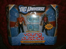 DC UNIVERSE YOUNG JUSTICE JLU AQUAMAN AND AQUALAD  FIGURES HEROES OF THE DEEP