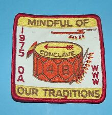 Scout Patch Boy Scout A OA WWW Conclave 1975 4B Mindful of Our Traditions Cloth