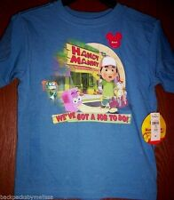 Handy MANNY Boy's 4T Blue Short Sleeve Shirt NeW Disney Store Tools Stretch