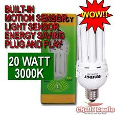 20W Warm White Motion detector light Sensor lamp energy saving bulb E27 EDISON