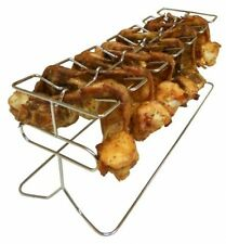 Chicken Leg And Wings Grill Rack Smoker Party BBQ Tailgate Football Game Cook
