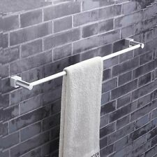 Single Bar Bathroom Towel Rack- Wall Mounted 60cm Width Aluminum Holder