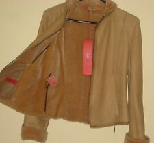 AUTHENTIC BRAND NEW HUGO BOSS WOMEN'S LAMBSKIN SHEARLING JACKET SIZE S