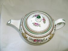 """WEDGWOOD """"""""Columbia"""" Teapot with Golden Dragons and Green Trim Disc 1997"""