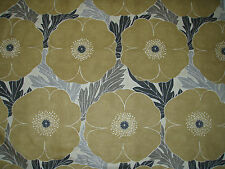 "HARLEQUIN CURTAIN FABRIC DESIGN ""Poppy"" 9.7 METRES ALMOND GREY CHARCOAL NEUTRAL"