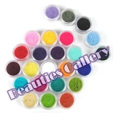 New 24 Mix Color Velvet Flocking Powder Manicure Acrylic UV Polish Nail Art Tips