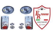 KIT FARI SPORTIVI COMPLETO MODELLO CHRISTAL H4 LEXUS CON FANALINI A LED FIAT 500