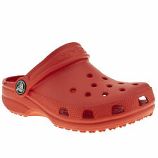 CROCS CLASSIC KIDS TODDLER RED MAN MADE SANDALS SIZE 4/5