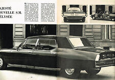 PUBLICITE ADVERTISING 114  1972  CITROEN SM  ( 2p) la voiture de LA REINE D'ANGL