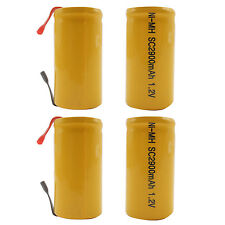 4PCS Sub C 2900mAh 1.2V Ni-MH Rechargeable Battery Tabs Power Tools RC Orange