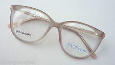 Face Colors extra große Pantobrille Brillenfassung zart graubraun matt milchig