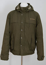 MENS CONVERSE JACKET SLIGHTLY PADDED HOODED DARK GREEN SIZE M MEDIUM