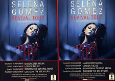 2 X SELENA GOMEZ 2016 REVIVAL TOUR FLYERS