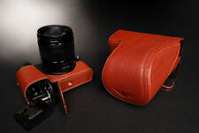 Genuine real Leather Full Camera Case Bag Cover for Panasonic GX8 Bottom Open