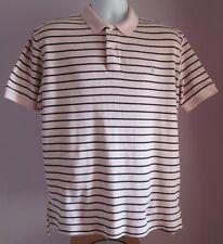 VTG Mens RALPH LAUREN POLO Pink/Blue Stripe Collared Shortsleeved Shirt Size M/L