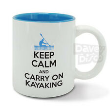 KEEP CALM and carry on KAYAKING mug cup, canoeing, kayak, water sport, gift idea